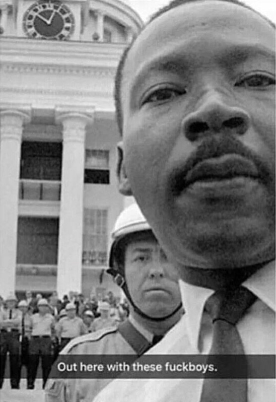 Martin Luther King Snapchat