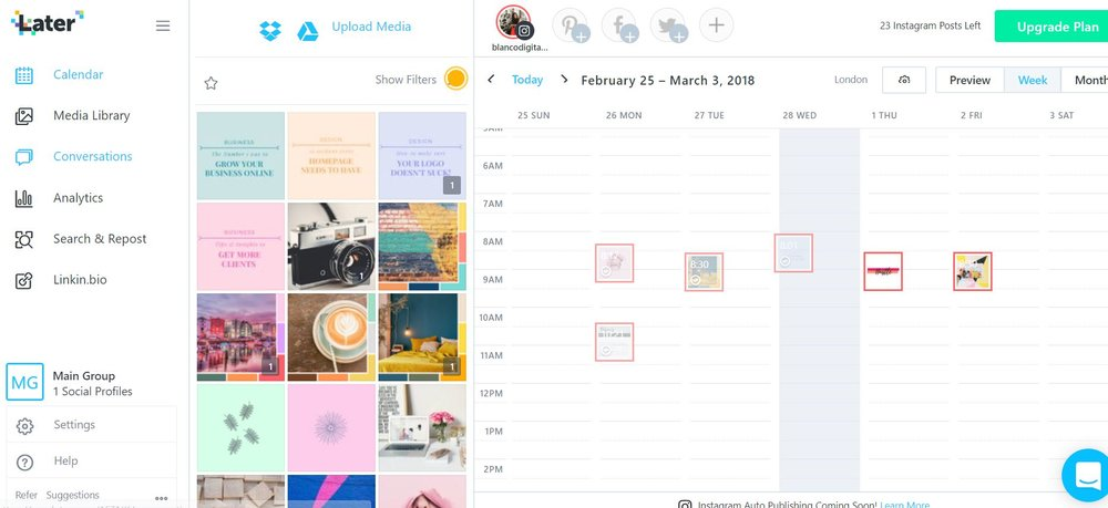 Review of Later: Instagram Scheduling — Blanco Digital Studio